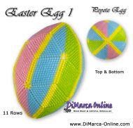 Tutorial 11 rows - Easter Egg 1 Peyote Egg incl. Basic Tutorial (download link per e-mail)