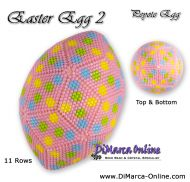 Tutorial 11 rows - Easter Egg 2 Peyote Egg incl. Basic Tutorial (download link per e-mail)