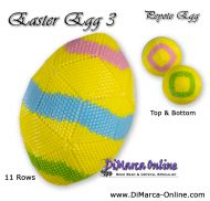 Tutorial 11 rows - Easter Egg 3 Peyote Egg incl. Basic Tutorial (download link per e-mail)