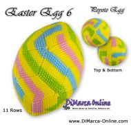 Tutorial 11 rows - Easter Egg 6 Peyote Egg incl. Basic Tutorial (download link per e-mail)