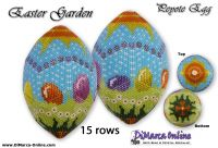 Tutorial 15 rows - Easter Garden Peyote Egg incl. Basic Tutorial (download link per e-mail)