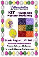 * Peyote Egg Beadalong Kit * August 2021 - Fabergé Christmas