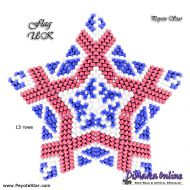 Tutorial Flag UK 3D Peyote Star + Basic Tutorial Little 3D Peyote Star (download link per e-mail)