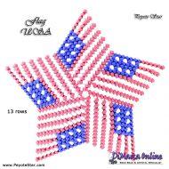 Tutorial Flag USA 3D Peyote Star + Basic Tutorial Little 3D Peyote Star (download link per e-mail)
