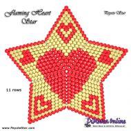 Tutorial Flaming Heart - 3D Peyote Star + Basic Tutorial Little 3D Peyote Star (download link per e-mail)