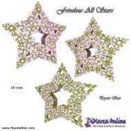Tutorial Frivolous All Stars - 3D Peyote Star + Basic Tutorial Little 3D Peyote Star (download link per e-mail)