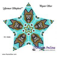 Tutorial German Shepherd 3D Peyote Star + Basic Tutorial Little 3D Peyote Star (download link per e-mail)