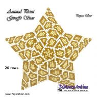 Tutorial Animal Print Giraffe - 3D Peyote Star + Basic Tutorial Little 3D Peyote Star (download link per e-mail)