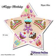 Tutorial Happy Birthday 3D Peyote Star + Basic Tutorial Little 3D Peyote Star (download link per e-mail)