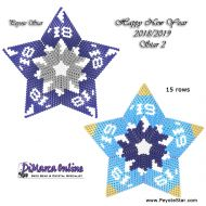 Tutorial HNY 2018-2019 Star 2 - 3D Peyote Star + Basic Tutorial Little 3D Peyote Star (download link per e-mail)