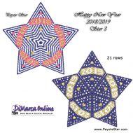 Tutorial HNY 2018-2019 Star 3 - 3D Peyote Star + Basic Tutorial Little 3D Peyote Star (download link per e-mail)