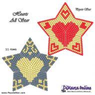 Tutorial Hearts All Stars 3D Peyote Star + Basic Tutorial Little 3D Peyote Star (download link per e-mail)