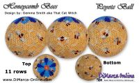 Tutorial 11 rows - Honeycomb Bees Peyote Ball incl. Basic Tutorial (download link per e-mail)