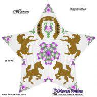 Tutorial Horses 3D Peyote Star + Basic Tutorial Little 3D Peyote Star (download link per e-mail)