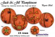 Tutorial 15 rows - Jack & Jill Pumpkinson Peyote Ball incl. Basic Tutorial (download link per e-mail)