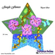 Tutorial Jungle Flowers 3D Peyote Star + Basic Tutorial Little 3D Peyote Star (download link per e-mail)