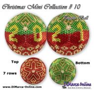 Tutorial 07 rows - Christmas Mini 10 Peyote Ball incl. Basic Tutorial (download link per e-mail)