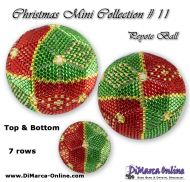 Tutorial 07 rows - Christmas Mini 11 Peyote Ball incl. Basic Tutorial (download link per e-mail)