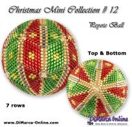 Tutorial 07 rows - Christmas Mini 12 Peyote Ball incl. Basic Tutorial (download link per e-mail)