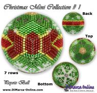 Tutorial 07 rows - Christmas Mini 1 Peyote Ball incl. Basic Tutorial (download link per e-mail)