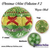Tutorial 07 rows - Christmas Mini 2 Peyote Ball incl. Basic Tutorial (download link per e-mail)