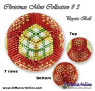 Tutorial 07 rows - Christmas Mini 3 Peyote Ball incl. Basic Tutorial (download link per e-mail)