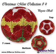 Tutorial 07 rows - Christmas Mini 4 Peyote Ball incl. Basic Tutorial (download link per e-mail)