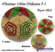 Tutorial 07 rows - Christmas Mini 5 Peyote Ball incl. Basic Tutorial (download link per e-mail)