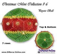 Tutorial 07 rows - Christmas Mini 6 Peyote Ball incl. Basic Tutorial (download link per e-mail)