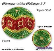 Tutorial 07 rows - Christmas Mini 7 Peyote Ball incl. Basic Tutorial (download link per e-mail)