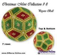 Tutorial 07 rows - Christmas Mini 8 Peyote Ball incl. Basic Tutorial (download link per e-mail)