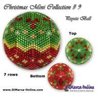 Tutorial 07 rows - Christmas Mini 9 Peyote Ball incl. Basic Tutorial (download link per e-mail)