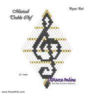 Tutorial Musical Treble Clef 3D Peyote Pod + Basic Tutorial Little 3D Peyote Pod (download link per e-mail)