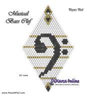 Tutorial Musical Bass Clef 3D Peyote Pod + Basic Tutorial Little 3D Peyote Pod (download link per e-mail)