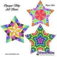 Tutorial Opaque Sky All Stars 3D Peyote Star + Basic Tutorial Little 3D Peyote Star (download link per e-mail)