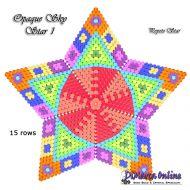 Tutorial Opaque Sky 1 - 3D Peyote Star + Basic Tutorial Little 3D Peyote Star (download link per e-mail)