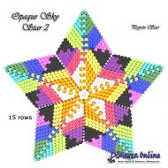 Tutorial Opaque Sky 2 - 3D Peyote Star + Basic Tutorial Little 3D Peyote Star (download link per e-mail)