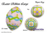 Tutorial 15 rows - Easter Ribbon Large Peyote Egg incl. Basic Tutorial (download link per e-mail)
