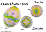 Tutorial 07 rows - Easter Ribbon Peyote Egg incl. Basic Tutorial (download link per e-mail)