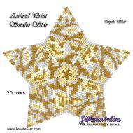Tutorial Animal Print Snake - 3D Peyote Star + Basic Tutorial Little 3D Peyote Star (download link per e-mail)
