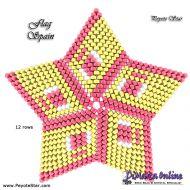 Tutorial Flag Spain 3D Peyote Star + Basic Tutorial Little 3D Peyote Star (download link per e-mail)