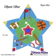 Tutorial Sports Star 3D Peyote Star + Basic Tutorial Little 3D Peyote Star (download link per e-mail)