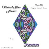 Tutorial Stained Glass Flowers - 3D Peyote Pod + Basic Tutorial Little 3D Peyote Pod (download link per e-mail)