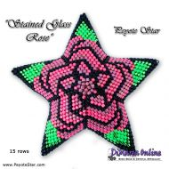 Tutorial Stained Glass Rose 3D Peyote Star + Basic Tutorial Little 3D Peyote Star (download link per e-mail)
