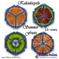 Tutorial Summer Fruits Kaleidocycle incl. Basic Tutorial (download link per e-mail) - 10 rows