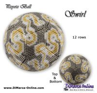 Tutorial 12 rows - Swirl Peyote Ball incl. Basic Tutorial (download link per e-mail)