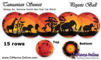 Tutorial 15 rows - Tanzanian Sunset Peyote Ball incl. Basic Tutorial (download link per e-mail)