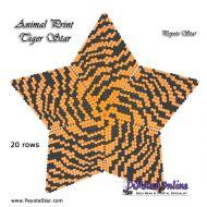 Tutorial Animal Print Tiger - 3D Peyote Star + Basic Tutorial Little 3D Peyote Star (download link per e-mail)