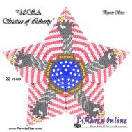 Tutorial USA Statue of Liberty 3D Peyote Star + Basic Tutorial Little 3D Peyote Star (download link per e-mail)