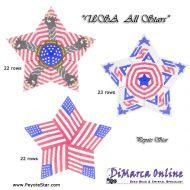 Tutorial USA All Stars 3D Peyote Star + Basic Tutorial Little 3D Peyote Star (download link per e-mail)